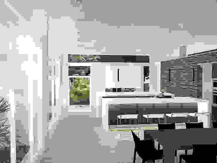 Sonoma Cocinas de estilo minimalista de RRA Arquitectura Minimalista Madera Acabado en madera