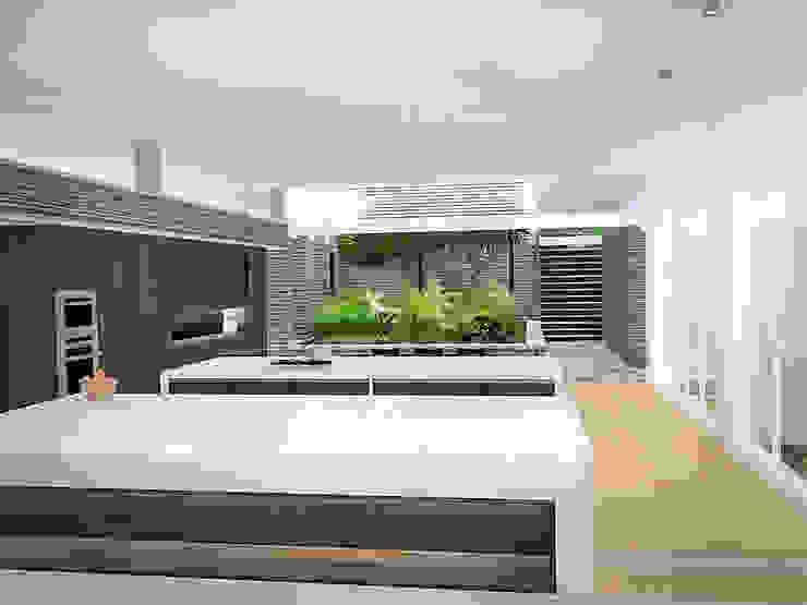 Sonoma Cocinas de estilo minimalista de RRA Arquitectura Minimalista Piedra