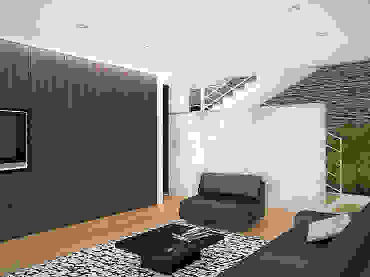 Sonoma Salas de entretenimiento de estilo minimalista de RRA Arquitectura Minimalista Madera Acabado en madera