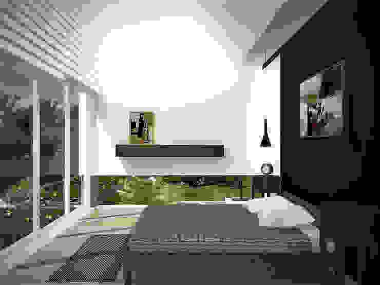 Sonoma Cuartos de estilo minimalista de RRA Arquitectura Minimalista Madera Acabado en madera