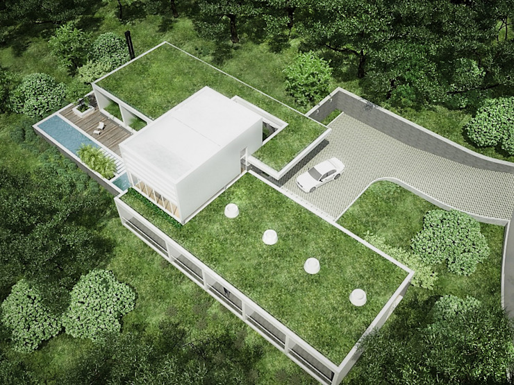 Sonoma Jardines de estilo minimalista de RRA Arquitectura Minimalista Mármol