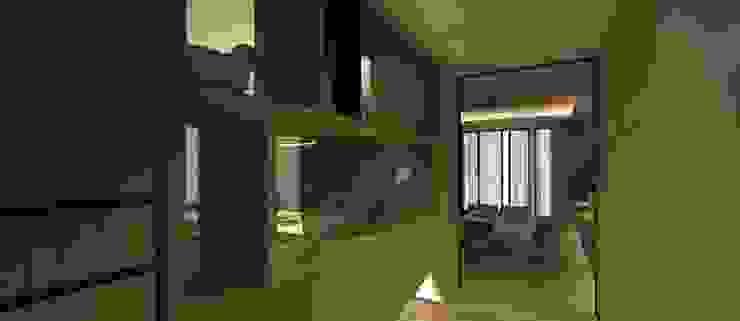 玄關3D設計圖 圓方空間設計