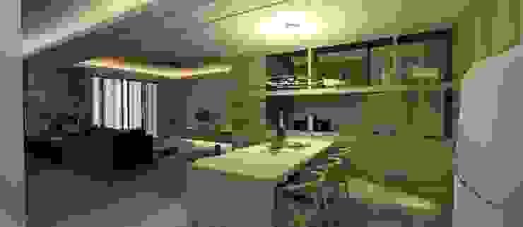 餐廳3D設計圖 圓方空間設計