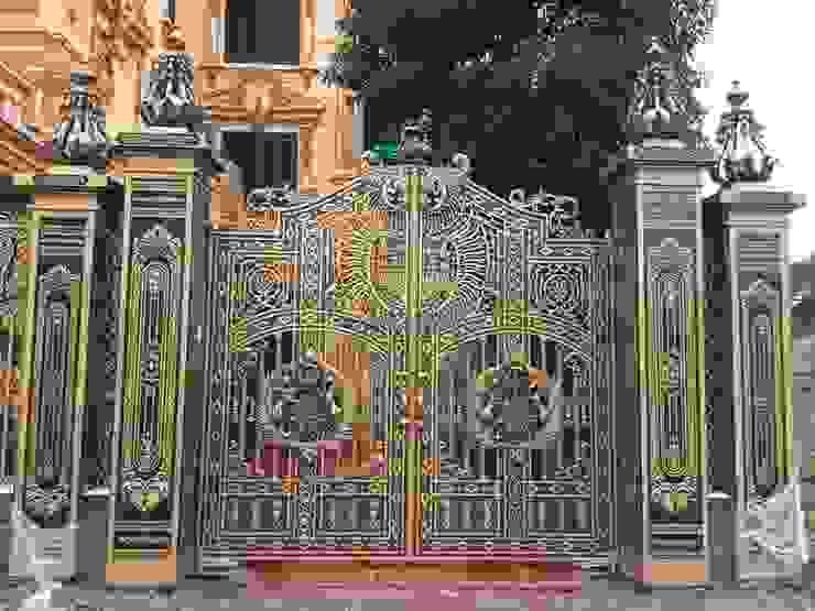 Vẻ đẹp và sự sang trọng của cổng nhôm đúc bởi CÔNG TY CỔ PHẦN SẢN XUẤT HOÀNG GIA HÀ NỘI Châu Á Bê tông cốt thép
