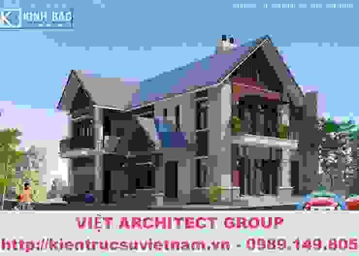 Công trình biệt thự 2 tầng kiến trúc mái thái ở Lai Châu bởi Việt Architect Group