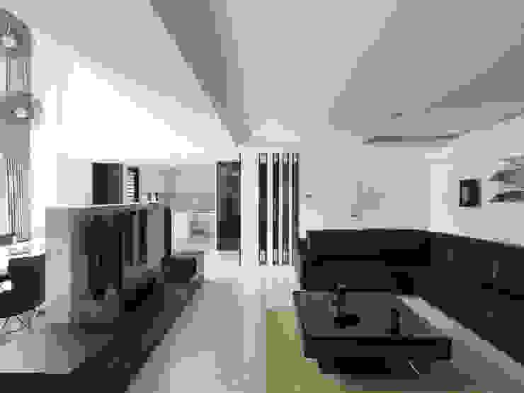 K HOUSE 现代客厅設計點子、靈感 & 圖片 根據 形構設計 Morpho-Design 現代風