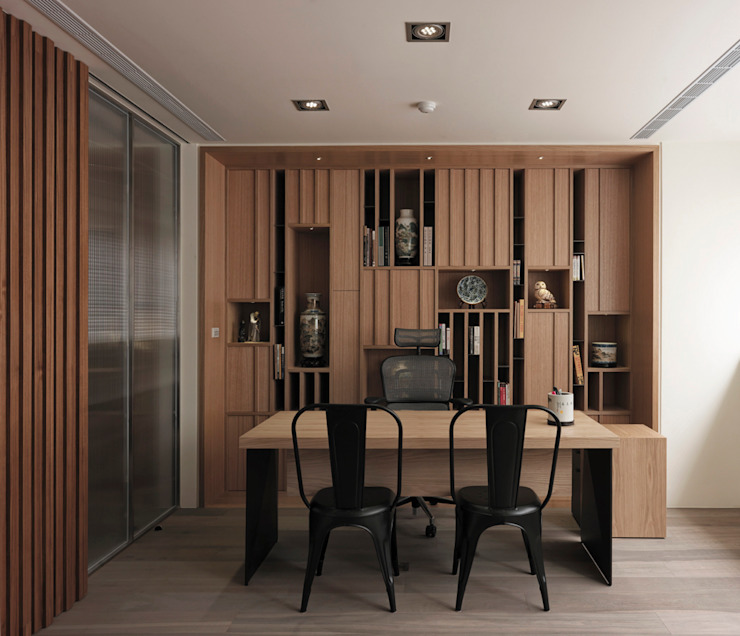 Modern Study Room and Home Office by 形構設計 Morpho-Design Modern