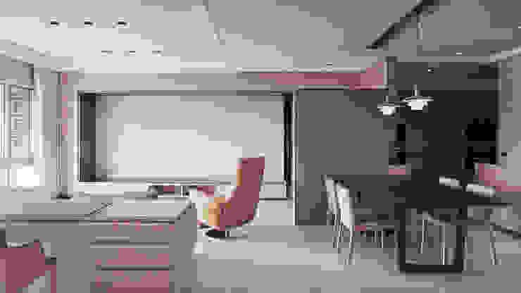 水平之家 形構設計 Morpho-Design 現代風玄關、走廊與階梯