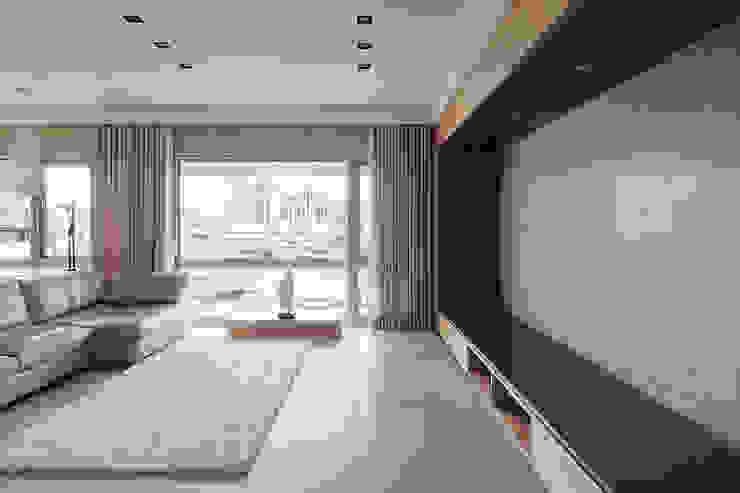 水平之家 形構設計 Morpho-Design 现代客厅設計點子、靈感 & 圖片