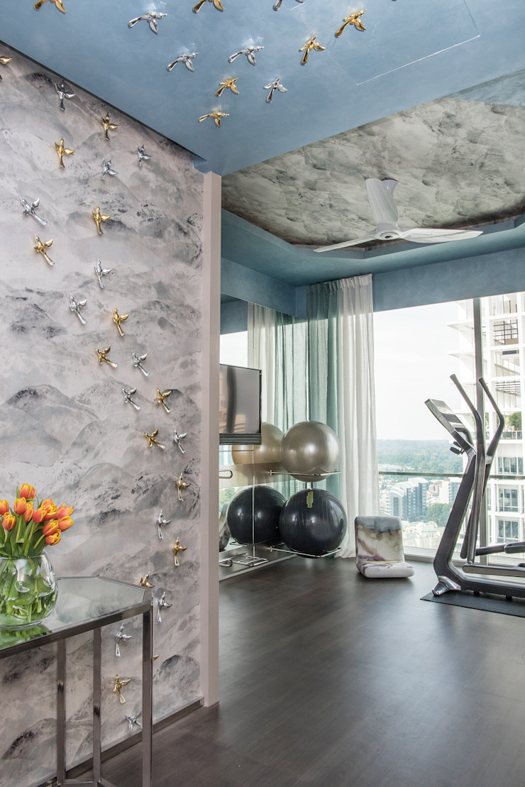 Home Gym by Design Intervention Modern gym by Design Intervention Modern