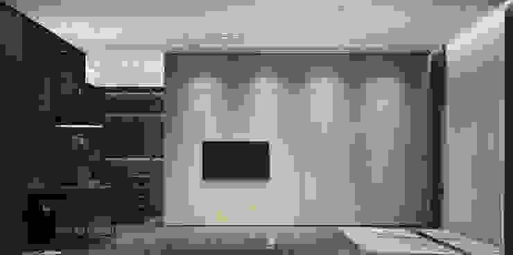 臥房電視牆面 根據 竹村空間 Zhucun Design 現代風