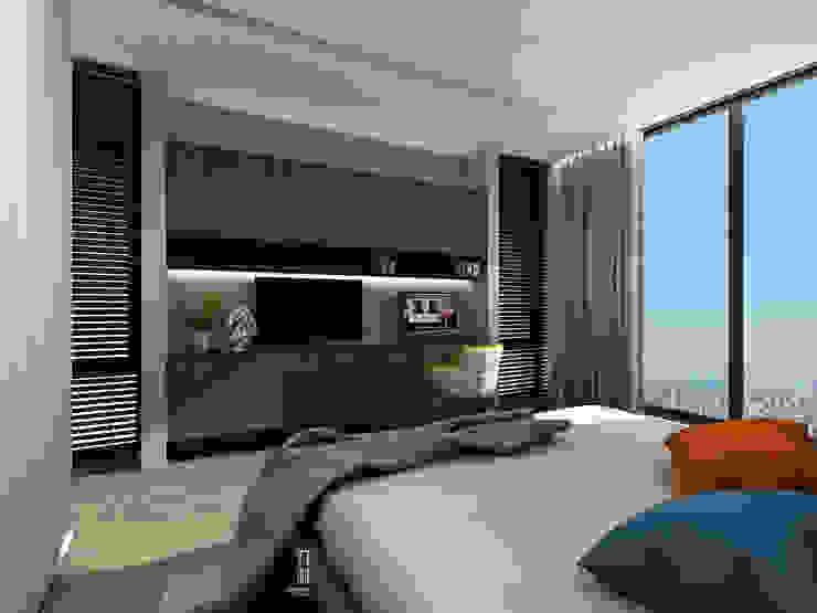 臥室6電視牆面 根據 竹村空間 Zhucun Design 現代風