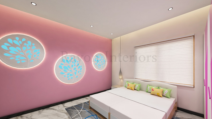GIRLS BED ROOM: modern  by RAYON INTERIORS,Modern Wood Wood effect