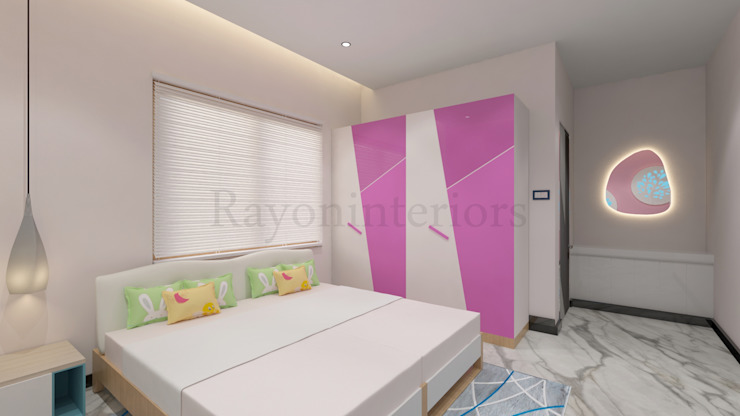 GIRLS BED ROOM by RAYON INTERIORS Modern Wood Wood effect