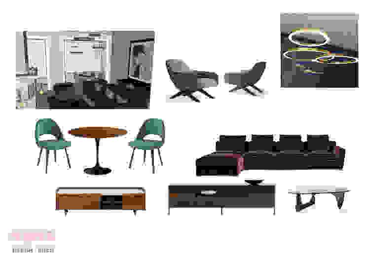 de mpaz Architect Moderno Textil Ámbar/Dorado
