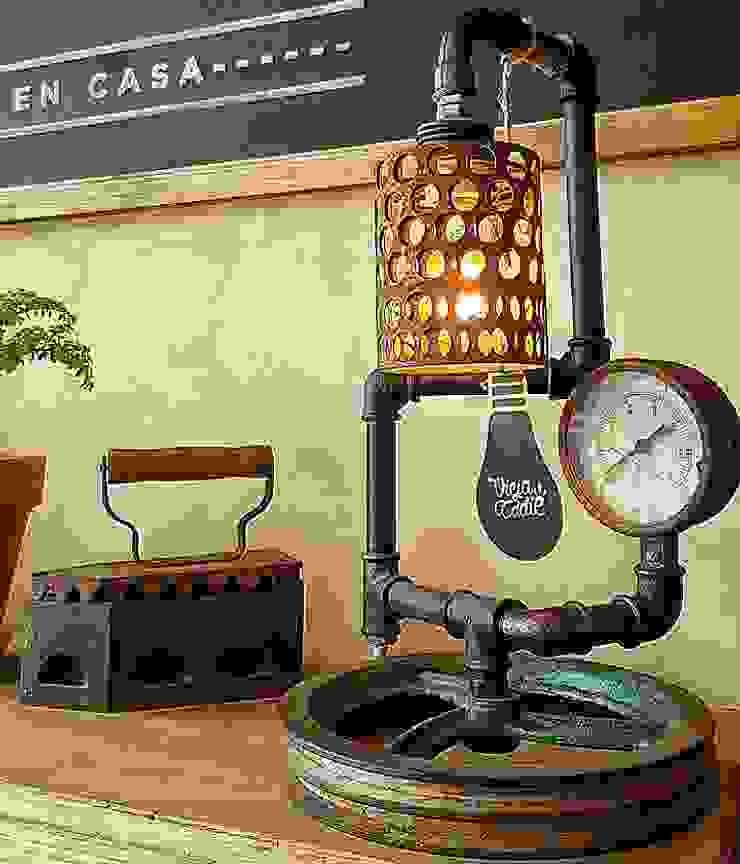 industriell  von Lamparas Vintage Vieja Eddie, Industrial Eisen/Stahl