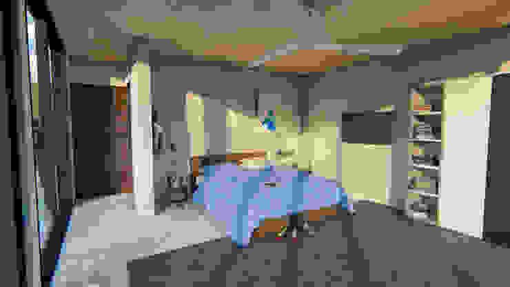 Render interior-2 de JV RVT Moderno Ladrillos