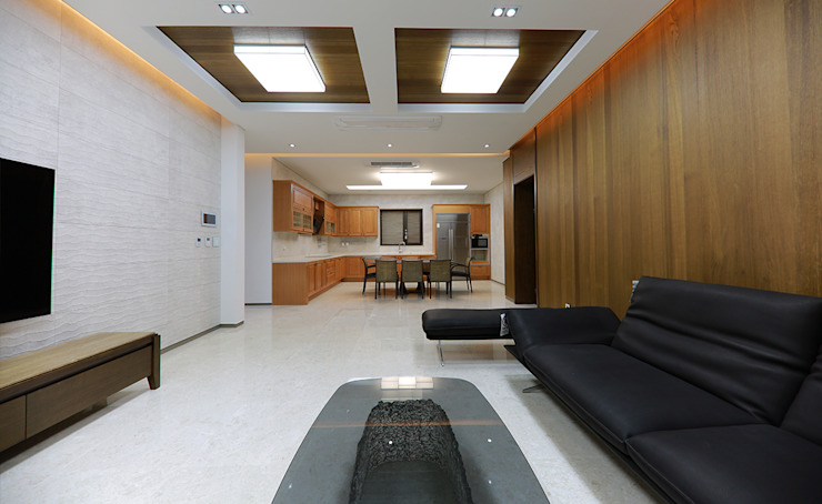 주택 내부 모던스타일 거실 by 더존하우징 모던