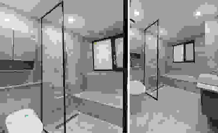 주택 내부 모던스타일 욕실 by 더존하우징 모던