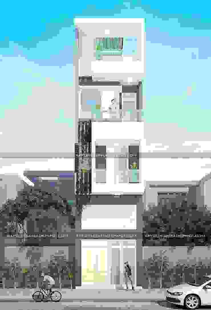Thiết kế nhà đẹp quận Tân Bình bởi Công ty xây dựng nhà đẹp mới Hiện đại