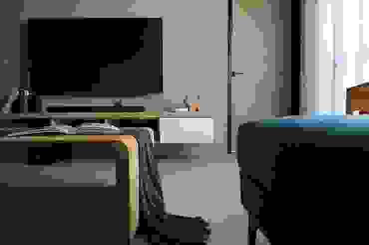 林口藝樹家 蔡府-清水模-沉靜 九木空間設計 客廳