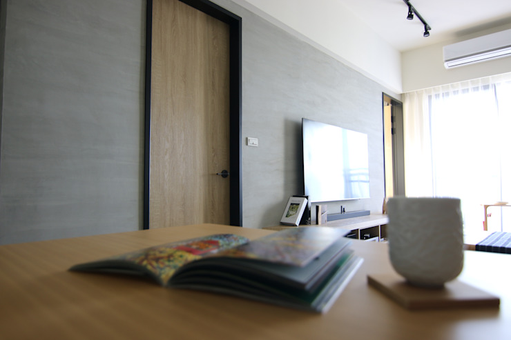 林口藝樹家 蔡府-清水模-沉靜 九木空間設計 餐廳