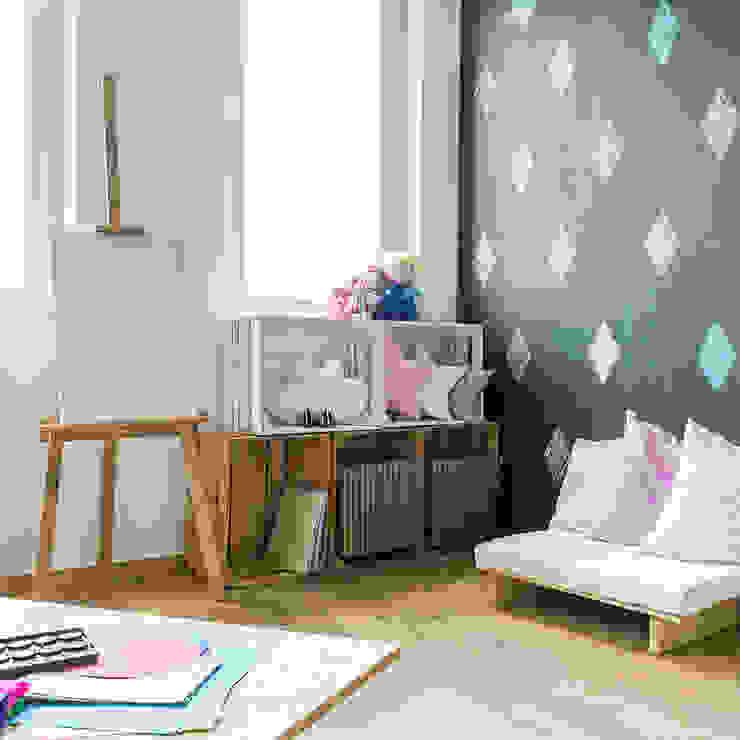 Papel pintado dormitorio infantil de Klausroom Moderno Compuestos de madera y plástico
