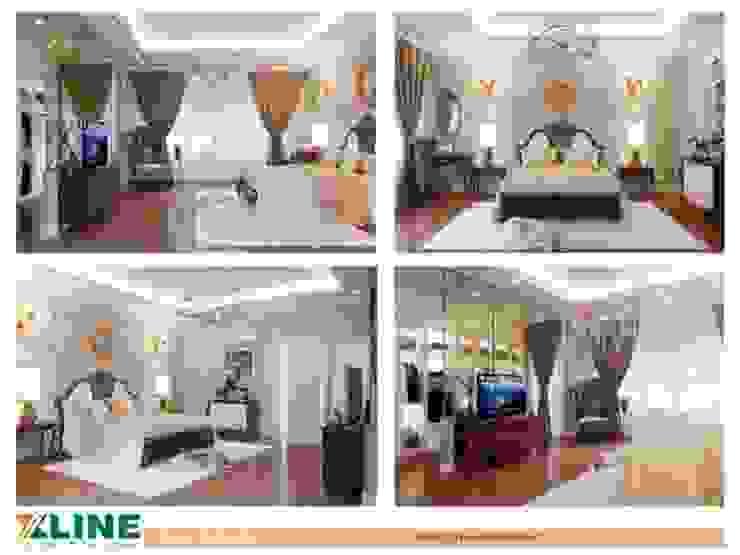Báo giá thiết kế nội thất chung cư tại Xline bởi NỘI THẤT XLINE Hiện đại Đồng / Đồng / Đồng thau