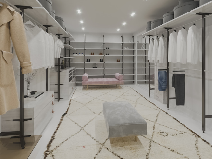 Modern dressing room by NRN diseño de interiores Modern