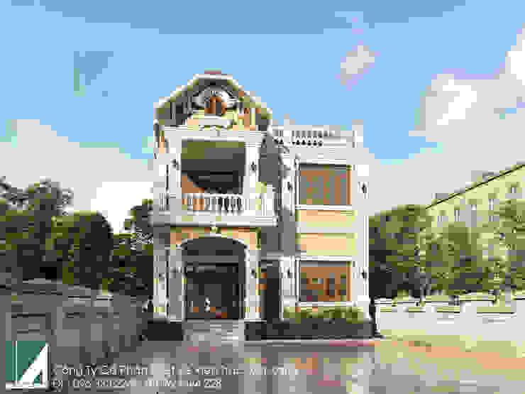 BIỆT THỰ 02 TẦNG CỔ ĐIỂN - BIỆT THỰ PHÁP 10X11M bởi Kiến trúc Việt Xanh