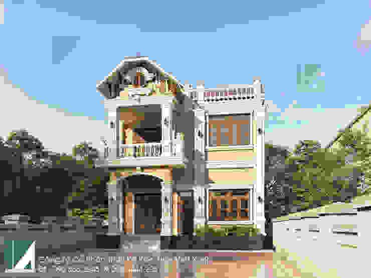 BIỆT THỰ 02 TẦNG CỔ ĐIỂN – BIỆT THỰ PHÁP 10X11M bởi Kiến trúc Việt Xanh
