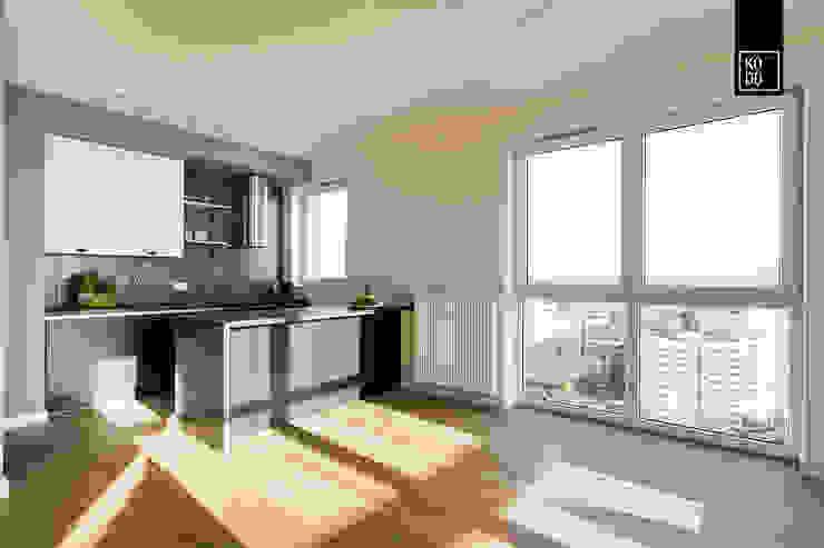 50 ODCIENI SZAROŚCI KODO projekty i realizacje wnętrz Modern living room MDF Grey
