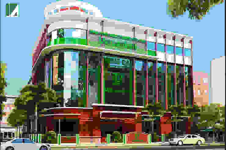 NGÂN HÀNG VIETCOMBAN - MÓNG CÁI bởi Kiến trúc Việt Xanh