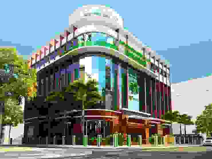 NGÂN HÀNG VIETCOMBAN – MÓNG CÁI bởi Kiến trúc Việt Xanh