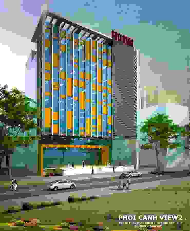 TÒA NHÀ VĂN PHÒNG 8 TẦNG – TRẦN HƯNG ĐẠO – HẢI PHÒNG bởi Kiến trúc Việt Xanh