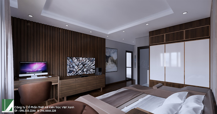 nội thất nhà 1 tầng nhỏ xinh bởi Kiến trúc Việt Xanh