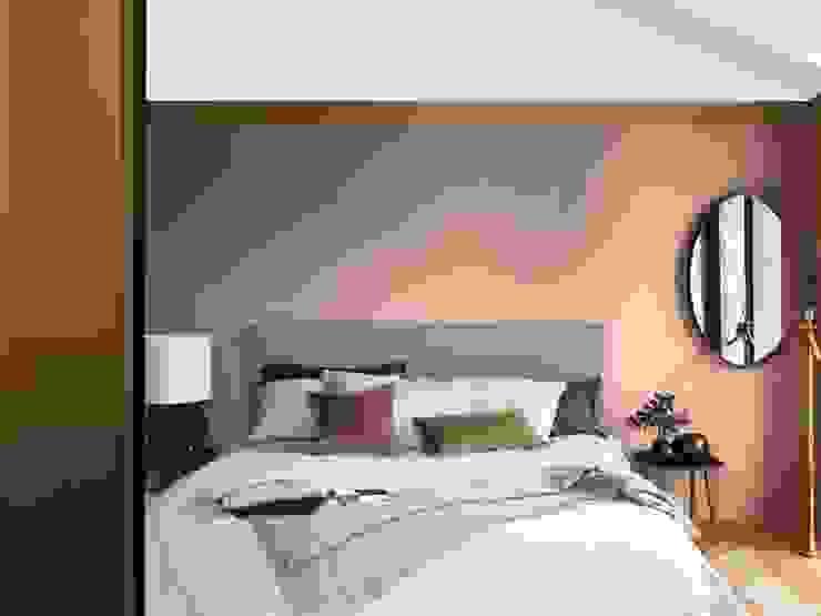 A Bedroom Space to Think in. Moderne slaapkamers van Dulux UK Modern