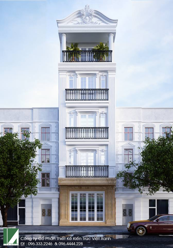 NHÀ PHỐ 6 TẦNG - MẶT TIỀN 5M X 20M bởi Kiến trúc Việt Xanh