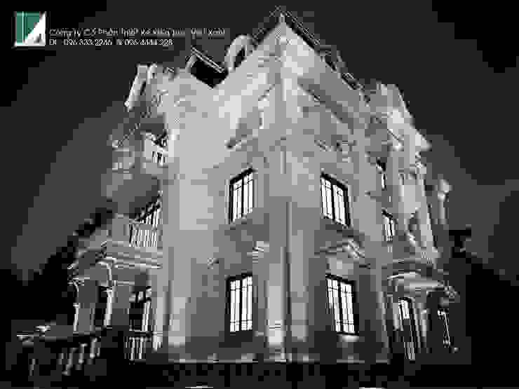 BIỆT THỰ LÂU ĐÀI 4 TẦNG + TẦNG ÁP MÁI bởi Kiến trúc Việt Xanh