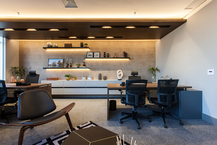 Modern Study Room and Home Office by Infinity Spaces Modern