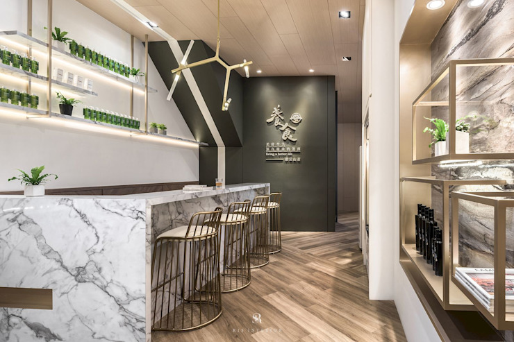 養食|Living-a-better-life Organic Grocery 理絲室內設計有限公司 Ris Interior Design Co., Ltd. 餐廳 塑木複合材料 Multicolored