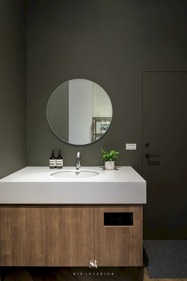 養食|Living-a-better-life Organic Grocery 理絲室內設計有限公司 Ris Interior Design Co., Ltd. 浴室 水泥 Green