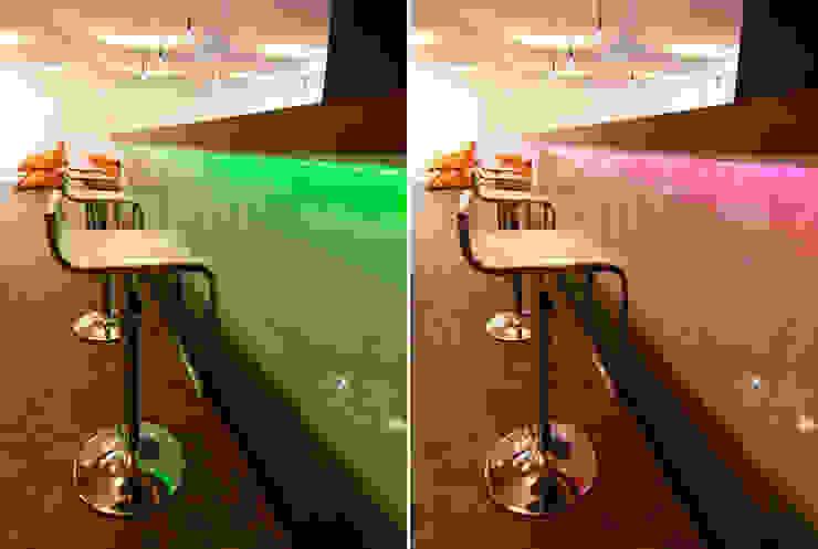 Bar mit Beleuchtung:  Küche von WSM ARCHITEKTEN,