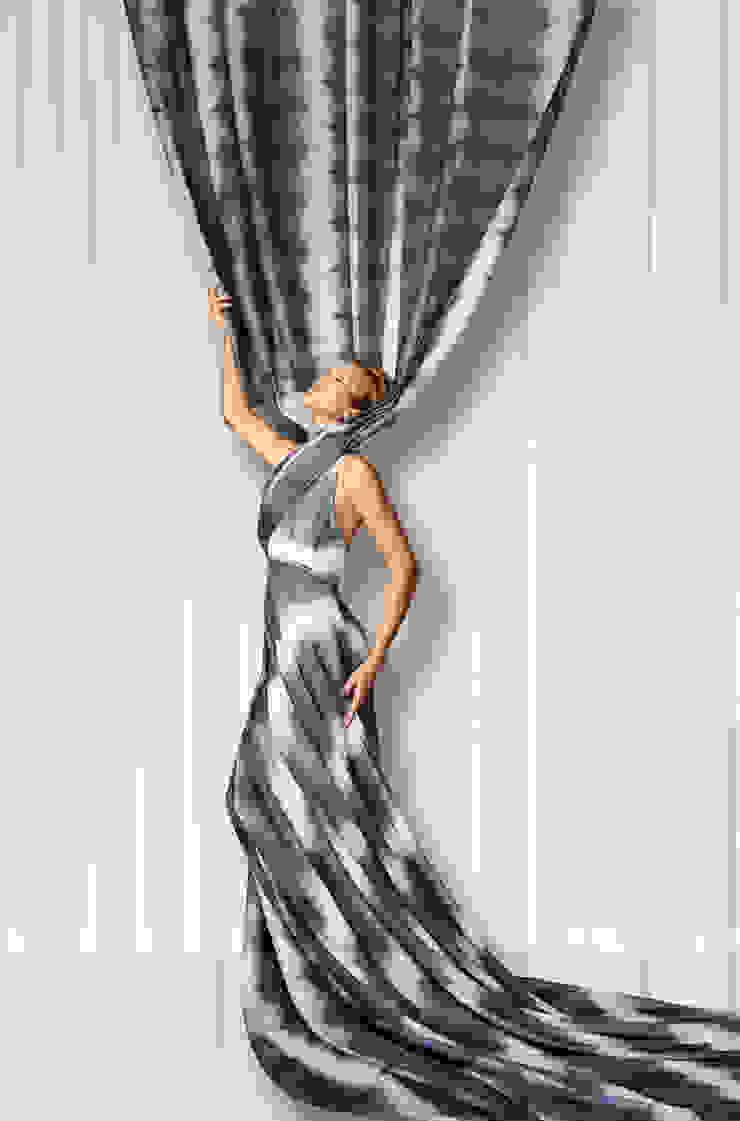 de lifestyle-interior Moderno Textil Ámbar/Dorado