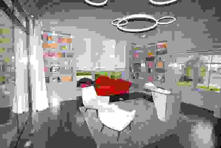 Custom Colonial, Greenwich, CT by DeMotte Architects Colonial style study/office by DeMotte Architects, P.C. Colonial