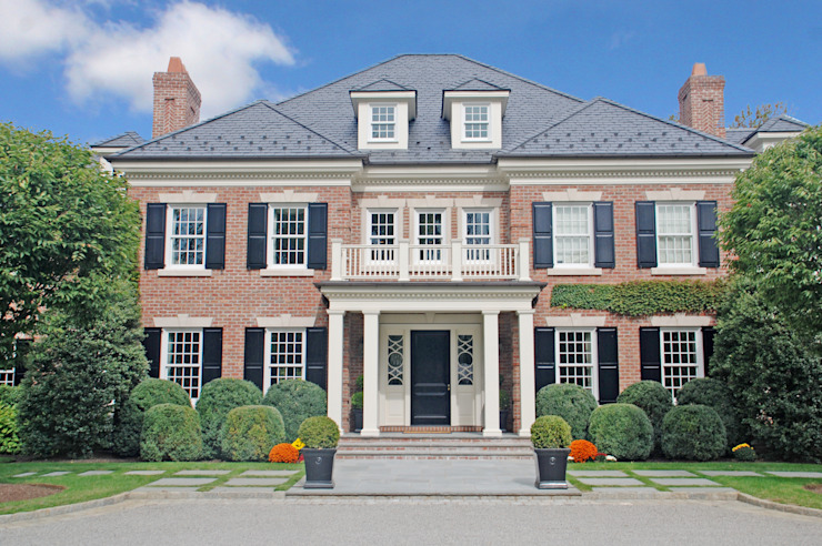 Georgian Colonial, Greenwich, CT by DeMotte Architects DeMotte Architects, P.C. Classic style houses