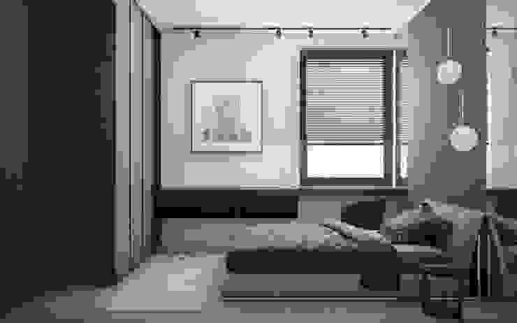 Apartament w Warszawie -CIEMNY Nowoczesna sypialnia od Exit Pracownia Projektowa Nowoczesny