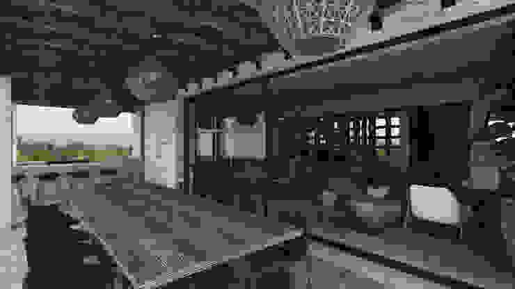 SAHAI UBAK Mouret Arquitectura Balcones y terrazas rústicos