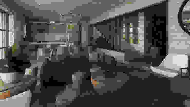SAHAI UBAK Mouret Arquitectura Salones rústicos rústicos