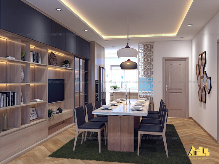 Scandinavian style dining room by Archilives Scandinavian